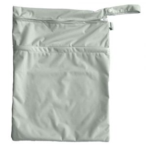 Silver Large Double Zipped Wet Bag
