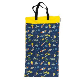 9119 AC wet bag 2 fachs L yellow space 1500